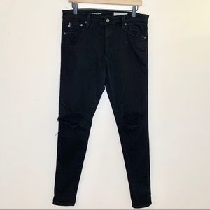 AG Jeans The Farrah High Rise Skinny Distressed